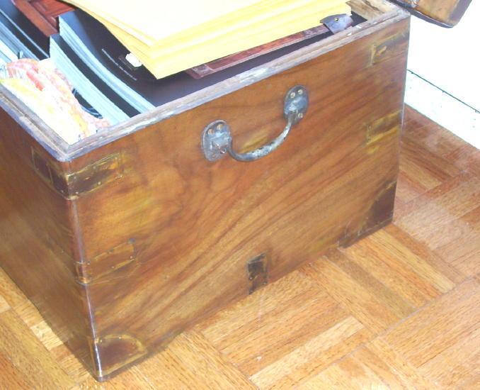 Antique Anglo-Indian China Camphor Wooden Trunk