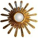 Antique Giltwood Sunburst Mirror