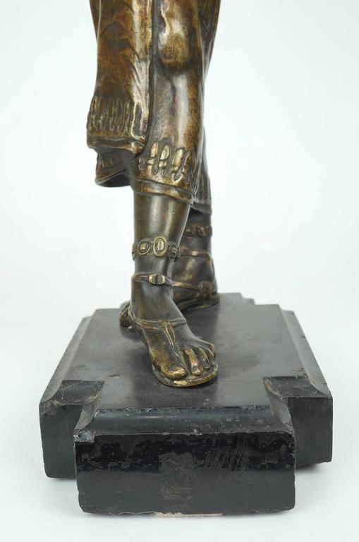 Antique Egyptian Dancer Bronze Sculpture