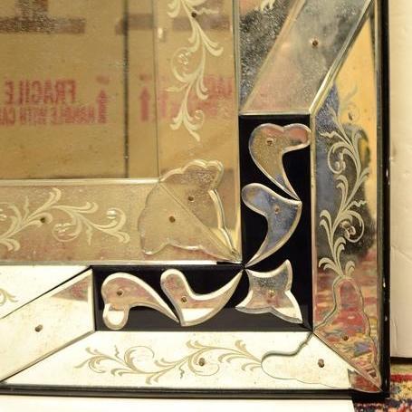 Vintage Venetian Murano Overmantal Mirror