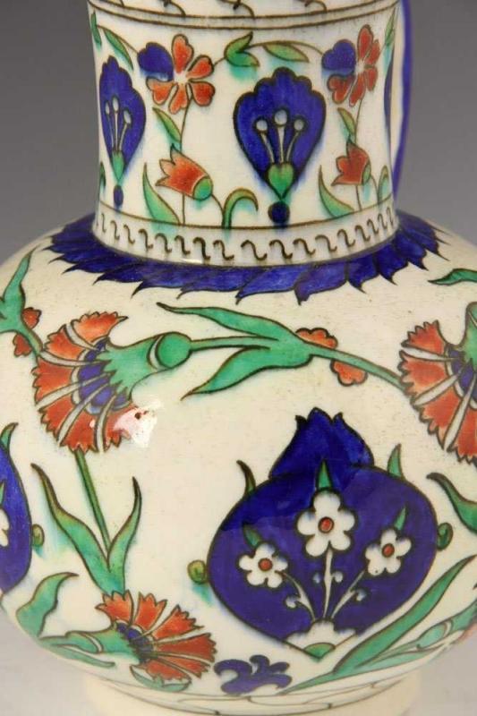 Theodore Deck Iznik Persian Style Pottery Jug Pitcher