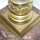 Greek Corinthian Column Marble Oil Lamp