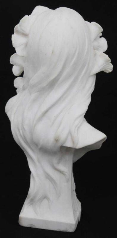 George Coudray Art Nouveau Female Marble Bust Sculpture