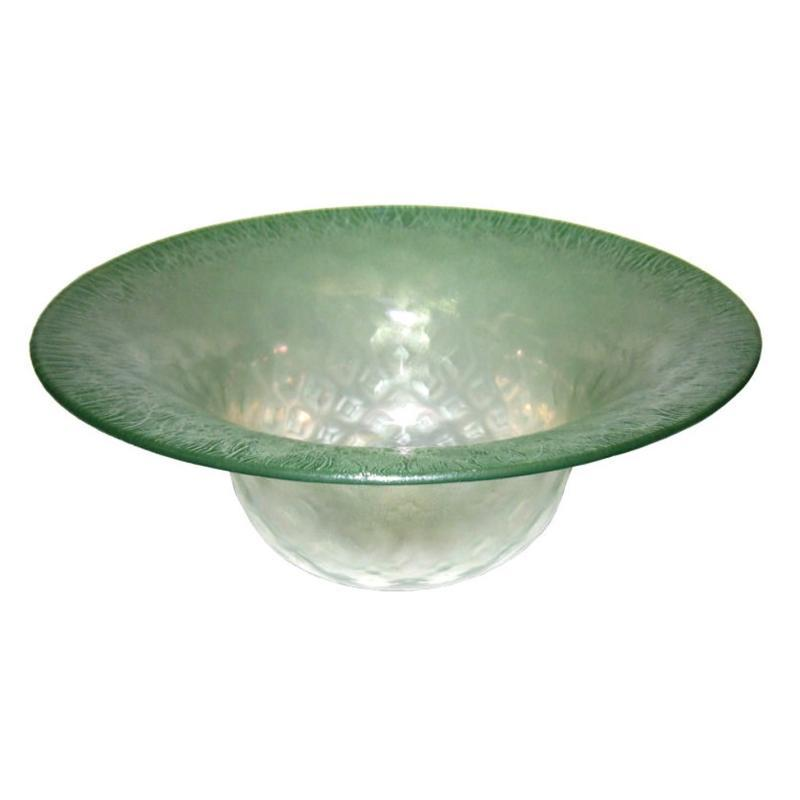 Louis Comfort Tiffany Green Favrile Glass Bowl