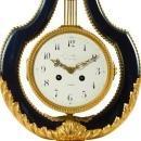 Louis XVI Lyre Form Mantel Clock by Maison Millet of Paris