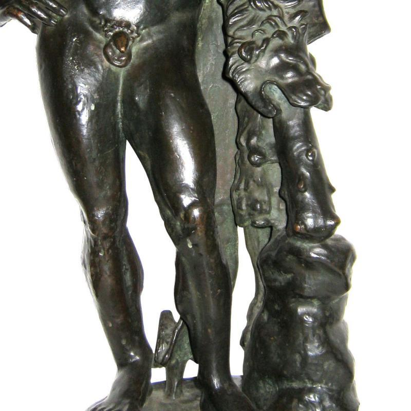 Antique Hercules Grand Tour Bronze Sculpture