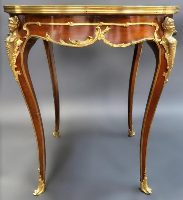 Antique French Louis XV Style Gueridon Side Table