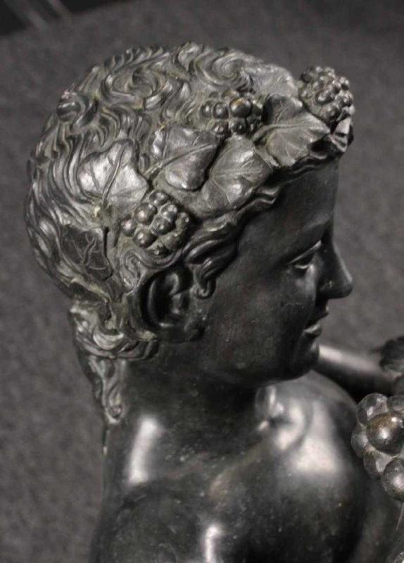 Faun with Infant Bacchus Bronze Lifesize Bronze Statue