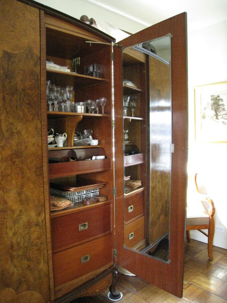 Large Art Deco Period Burlwood Armoire