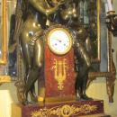French Empire Mantel Clock Depicting Cupid and Psyche
