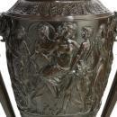 Palatial Neoclassical Bacchanal Bronze Jardiniere Vase