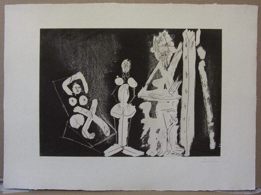 Pablo Picasso Limited Edition Aquaprint dans l' atelier (1965)