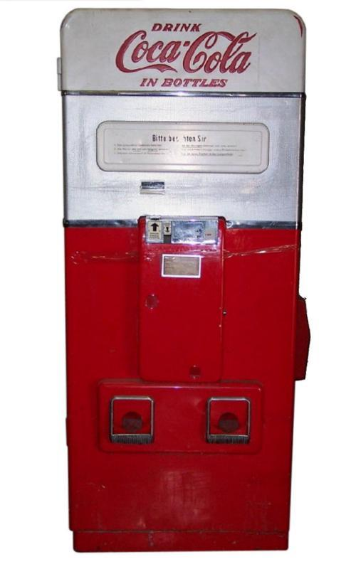 Mid-Century (1950s) Vendo V-216 Coca-Cola Vending Machine for German Market