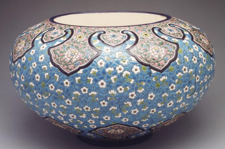 Monumental Longway Glazed Earthenware Jardiniere