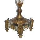 Antique Gilt Bronze & Crystal Candelabra Lamp