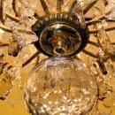 Palatial Glt Bronze & Crystal Chandelier