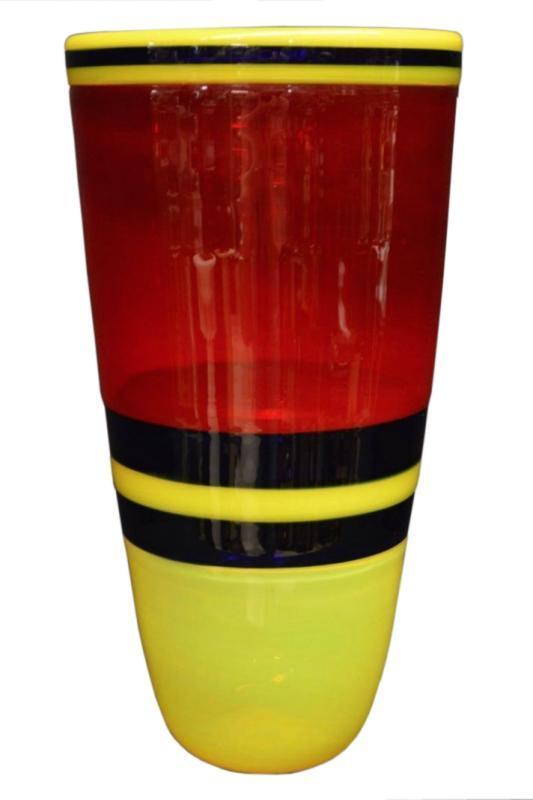 Italian Venetian or Murano Incalmo Glass Vase