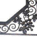 Art Deco Wrought Iron Mirror with Grapevine Motif