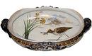 Antique Keller & Guerin Luneville French Ceramic Centerpiece Bowl