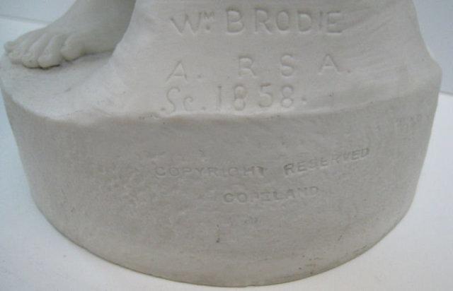 Antique English Copeland Parian Bisque Sculpture Entitled Sunshine by William Brodie