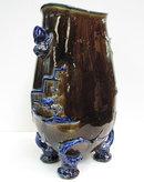 Hautin Boulenger HB & Cie Choisy-le-Roi Faience Vase