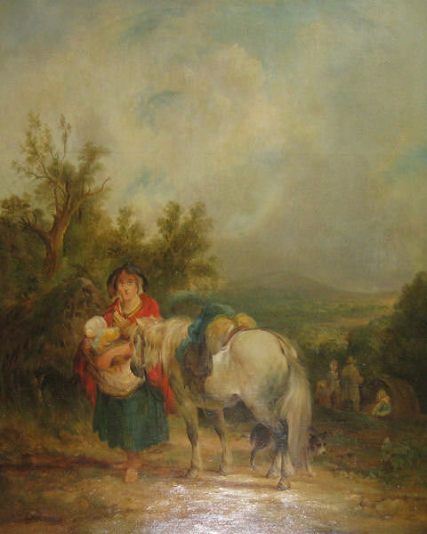 Dutch School Peasant Genre Oil on Panel