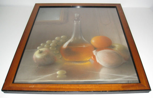 Antique American Trompe L'Oeil Still Life Painting by Nathan J Hale