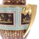 Pair Antique Royal Vienna Covered Urns