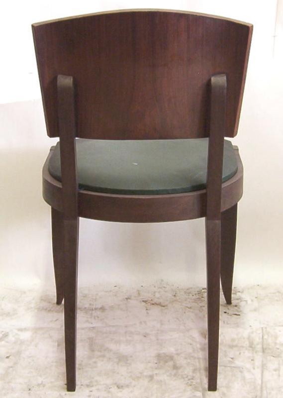 Set 6 French Art Deco Mahogany Dining Chairs