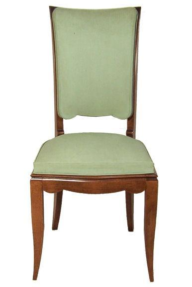 Set of 8 French Art Deco Highback Dining Chairs