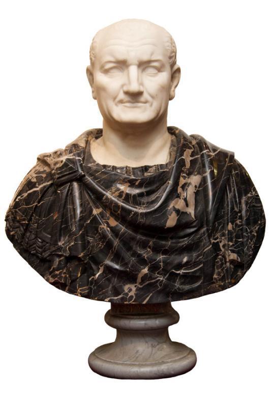 Grand Tour Italian Marble Bust of Roman Emperor, Vespasian