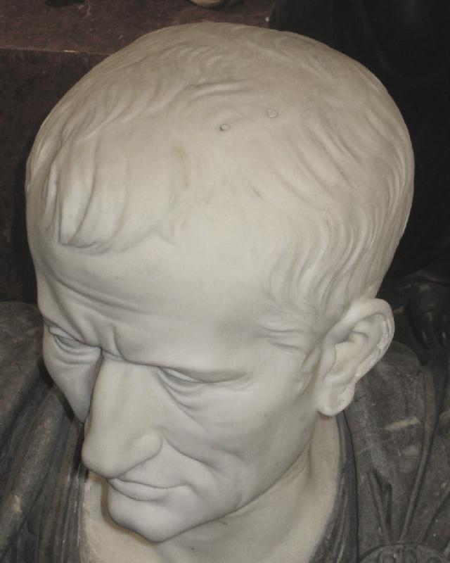 Italian Grand Tour Marble Bust of Roman Emperor, Galba