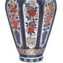 Monumental Antique Imari Porcelain Lidded Vase
