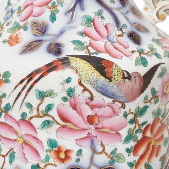 Pair Antique Japanese Imari Style Porcelain Vases