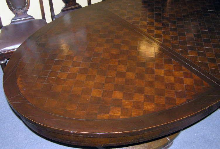 Arts & Crafts Period Parquet Dining Table