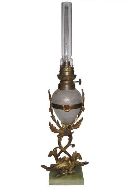 Antique W&W Kosmos Bronze Oil Lamp