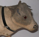 Papier Mache Felt Bull Folk Art Pull Toy