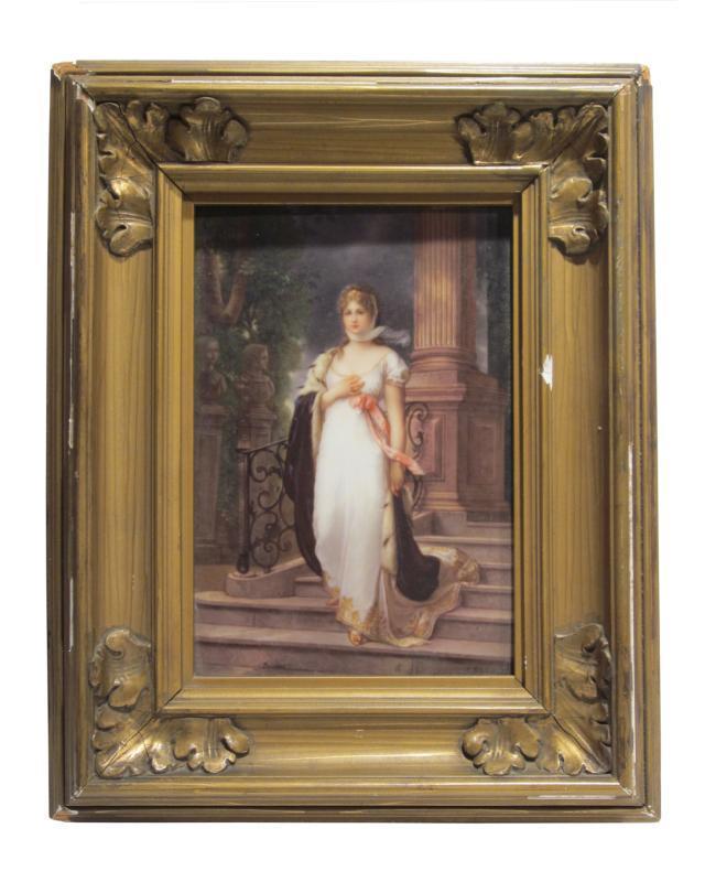 Dresden Porcelain Plaque Depicting Prussian Queen Louise After Gustav Richter