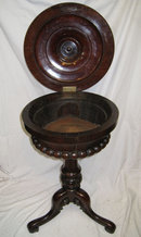 Antique Rosewood Tripod Teapoy or Humidor