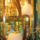 Mid-Century Modern Wooden and Brass Table Lamps Attributed to Modeline