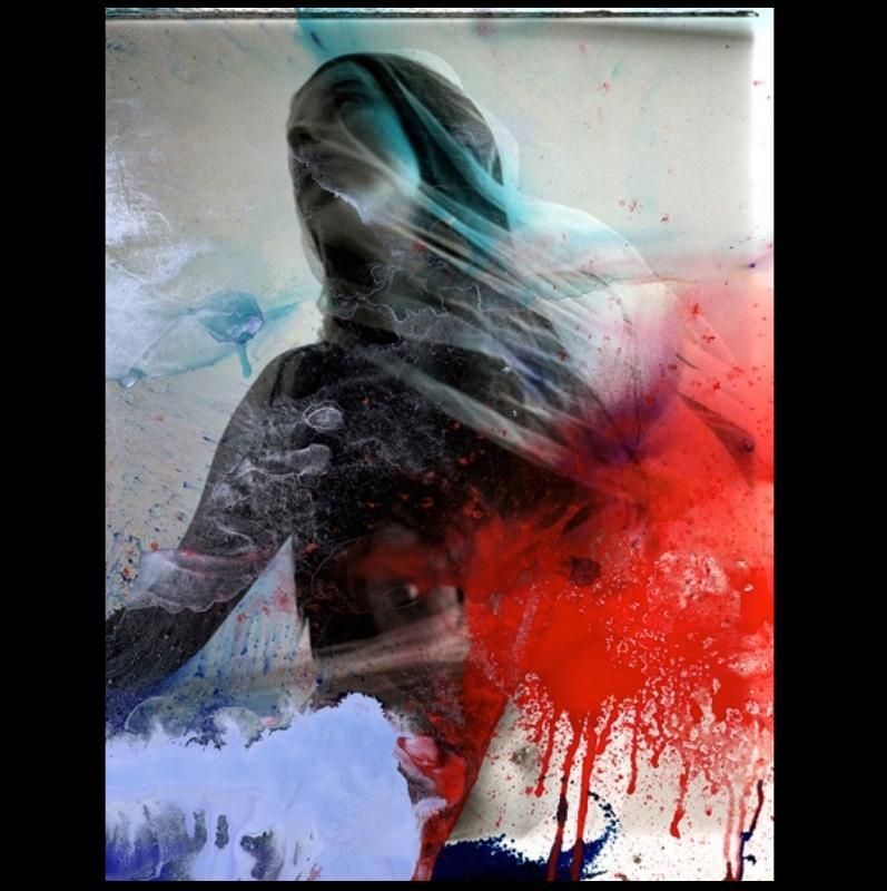 Figurative Hand Painted Silver Gelatin Photographic Print by Jamali