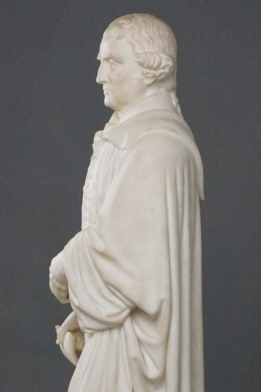Thomas Jefferson Marble Statue (American School)