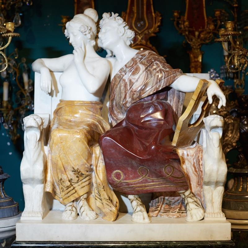 Ferdinando Vichi Neoclassical Marble Statue Sculpture
