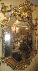 Neoclassical Giltwood & Gesso Overmantel Mirror
