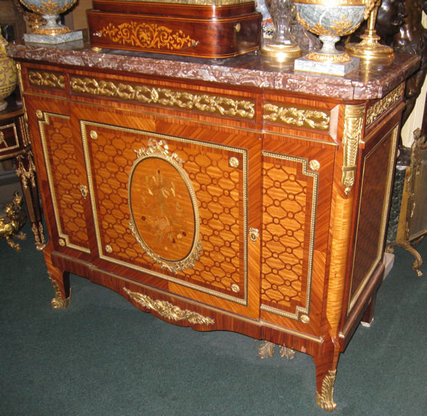 Antique Louis XVI Style Commode Side Cabinet Sideboard