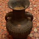 Antique Japanese Meiji Period Bronze Vase with Elephant Handles