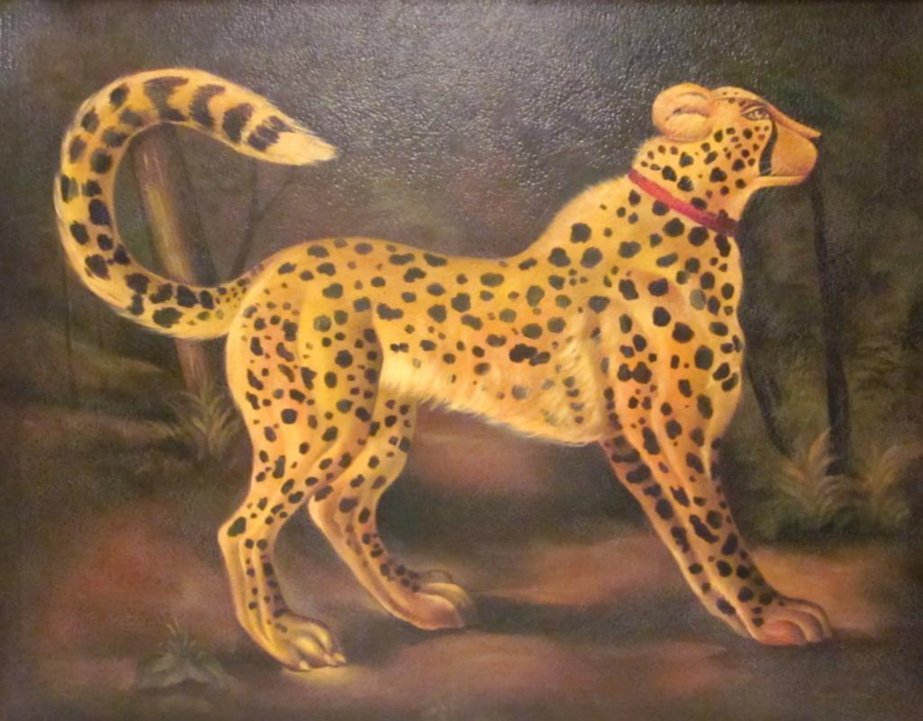 Cheetah Oil Painting on Canvas by Reginald Baxter