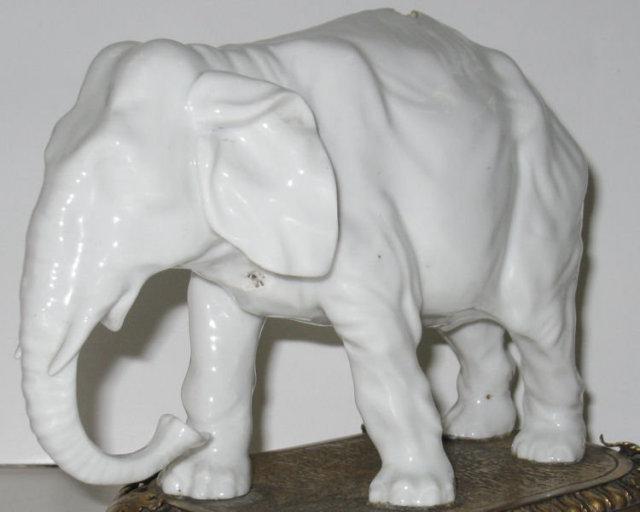 Antique Porcelain Asian Elephant Clock