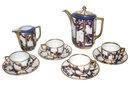 Maria Schwamberger Art Deco Bavarian Porcelain Chocolate Set