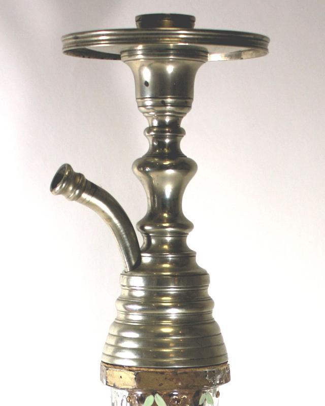 Antique Persian Iranian Glass Hookah Depicting Mozaffar al Din Shah